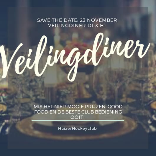 Veilingdiner 23 november 2018